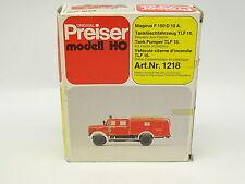 Preiser Kit da montare 1/87 HO Magirus F150 D10A Vigili del fuoco Feuerwehr