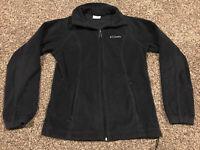 Columbia Womens S Black Full Zip Fleece Jacket A38