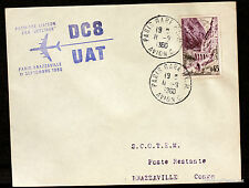 1960 DC8 UAT PARIS BRAZZAVILLE CONGO   Airmail Aviation premier vol AC16