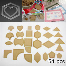54Pcs Acrylic Quilting Templates Sewing Stencils Patchwork Ruler Sewing Tool Set