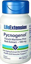 Pycnogenol French Maritime Pine Bark Extract 100 mg -60 veg caps -Life Extension