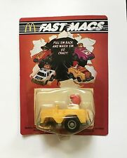 Ronald McDonald Vintage McDonalds 1985 Fast Mac Pull Back Car