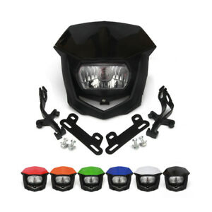 Universal  Headlights Headlamp StreetFighter Dirt Pit Bike Supermoto Motorcycle