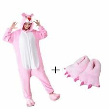 Cute Animal Kigurumi Pink Panther Woman Hooded For Adult One-Piece Pajamas