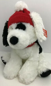 Gund Spotee Christmas Dog 4048288 Floppy Plush Red Hat Tags
