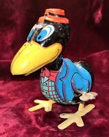 Vintage Marx Hopping Cary the Crow Wind Up Mechanical Tin Toy, Disney Character?