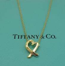 TIFFANY & Co. 18K Gold Paloma Picasso Loving Heart Pendant Necklace