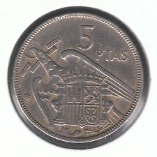 España 1957 (62) 5 pesetas moneda de cobre-níquel