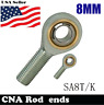 2pcs 8mm right hand male outer thread metric rod end joint bearing SA8T/K POSA8