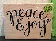 Hero Arts Peace & Joy Wood Mounted Rubber Stamp K6104 Christmas Holidays