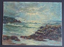 Emilie Des Atlee 1956 Oil Painting~Nantucket Island Seascape~Signed And Dated