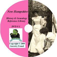 165 old books NEW HAMPSHIRE history & genealogy NH