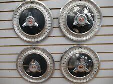 """1963 FORD FAIRLANE 14"""" Spinner Wheel Cover Hubcap OEM 63 SET"""