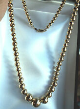 "RARE 18k Yellow Gold Graduating Bead Chain Necklace 18"" MINT 14.59g ONLY1onebay!"