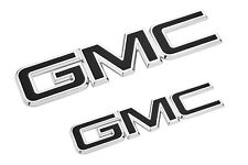 2017-2019 GMC Acadia Grille and Tailgate GM Black Emblems 84378383 OEM GM New OE
