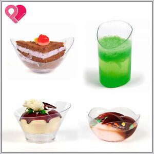 720 Acrylic Plastic Clear Stackable Party Dessert Appetizer Favor Bowl Plate Cup