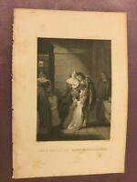 Antique Book Print - Lord Russel's Last Interview With His Family - 1875