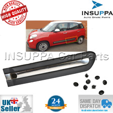REAR DOOR SIDE BAR PROTECTIVE MOULDING STRIP CHROME LEFT FOR FIAT 500L 735558456