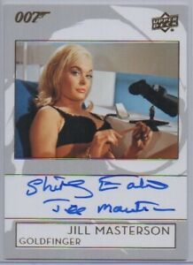 SHIRLEY EATON 2019 UD INSCRIPTIONS card auto signed AUTOGRAPH Bond Connery