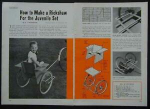 Child size Rickshaw Style Bicycle Trailer How-To build PLANS