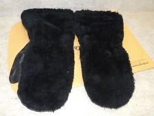 """Vintage Kebek Ski / Snowmobile Mittens, Fuzzy w/ Leather Palms 13.5"""" Long"""