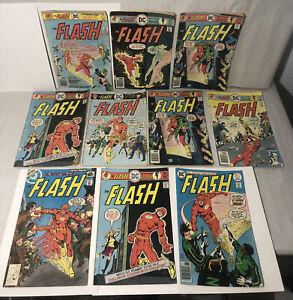 Bronze AGE COMIC, THE FLASH, LOT OF 10 BOOKS All Original DC Good Condition