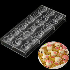 9 Hello kitty Polycarbonate PC Chocolate Candy Mould DIY Mold Cookie Tools