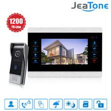 "JeaTone 10"" Color Video Doorbell Intercom Monitor 1200TVL Door Phone Intercom"
