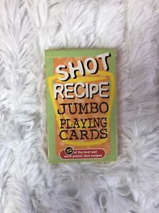 Shot Recipe Jumbo Playing Cards Deck 52 Potent Best Drinks Adult Games Glasses