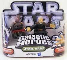 Star Wars Galactic Heroes Commando Droid + Le Comte Dooku Action Figures