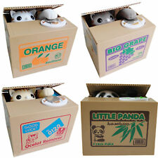 【The Most Creative Gift】 Panda Stealing Coin Money Cat Penny Saving Box Birthday