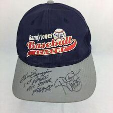 Randy Jones and Chris Canizzaro Signed Baseball Cap Randy Jones Baseball Academy