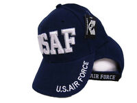 USAF U.S. Air Force Embroidered 3D Navy Cap Hat - Military (RD)