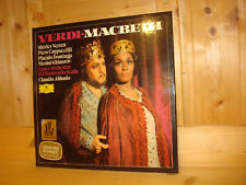 Verdi Macbeth ABBADO PLACIDO DOMINGO SHIRLEY VERRETT DGG 3 LP BOX 2709062 MINT