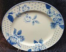 "Mikasa Blue Sonata Chop Plate 12 3/4"" Dinner Round Intaglio CAC12 MINT!"