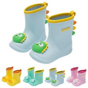 Toddler Infant Kids Baby Boys Girls PVC Waterproof  Rubber Waterproof Rain Boot