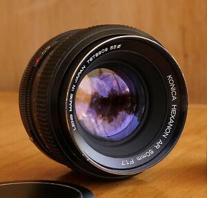 Konica Hexanon 50mm f1.7 Konica AR Mount Prime Lens Made in Japan