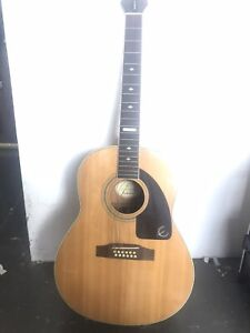 Epiphone AJ18S12 Natural Project Fixer Luthier 12 String Broken Headstock Repair