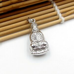 PT990 Pure Platinum 990 Men Women Bless Lucky Guanyin 观音 Pendant / 3.7g