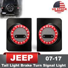 2x Jeep Wrangler JK 07-17 LED Tail Lights  w/ Brake Turn Signal Reverse Function