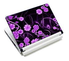 "Laptop Decal Protector Sticker For 15"" 15.4''15.6"" Lenovo Samsung Purple Flower"
