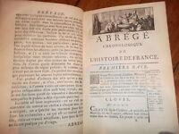 Nouvel Abrégé Chronologique de L'Histoire de France. TOME I        PRAULT 1768