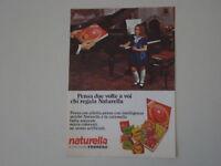 advertising Pubblicità 1970 FERRERO NATURELLA
