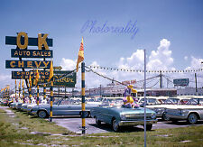 Chevrolet 1965 Easter Sale New Car Dealership Lot  8 x 10 Color Photograph