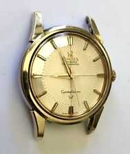 Vtg 1959 OMEGA CONSTELLATION Chronometer AUTOMATIC WATCH 551 GOLD CAPED Pie Pan