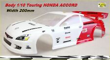 Carrozzeria Body for 1/10 HONDA ACCORD RC Car per RK Himoto Painted White/RED