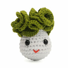 Chinese Cabbage Handmade Amigurumi Stuffed Toy Knit Crochet Doll VAC