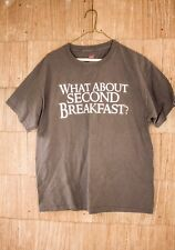 What About Second Breakfast Hanes Tagless Tee T-Shirt Gray Large