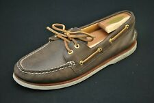 Sperry Gold Cup Top Sider Shoes Deck Boat Brown Leather Men's 9 M