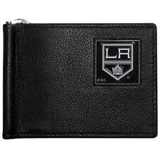 los angeles kings la logo nhl hockey emblem leather bill clip wallet usa made